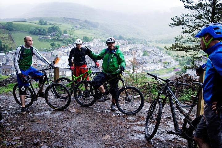 De lokale i Darren Fawr Mountain Bike Park